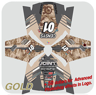 Custom Jersey Design- Gold