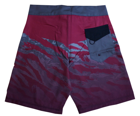 Board Shorts - Maroon/Grey Camo