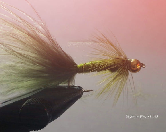 BH Damsel Olive Custom-tied Dozen -Fly Fishing Trout Flies Silvereye Flies