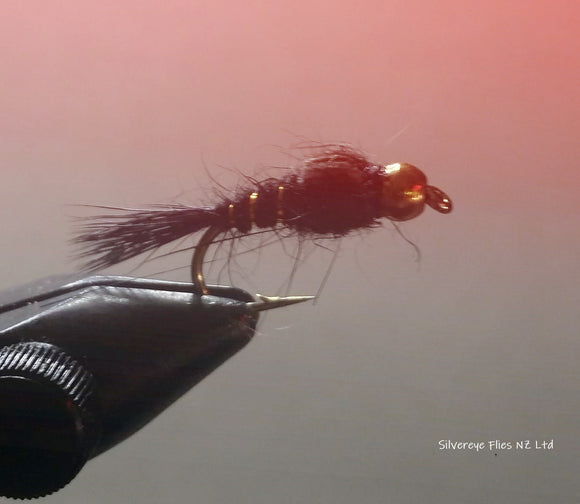 BH Hares Ear Black (3) -Fly Fishing Trout Flies Silvereye Flies