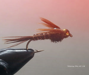 Bead Head Flashback Pheasant Tail (3) -Fly Fishing Trout Flies Silvereye Flies