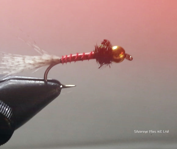 Biot Red GB Custom-tied Dozen -Fly Fishing Trout Flies Silvereye Flies