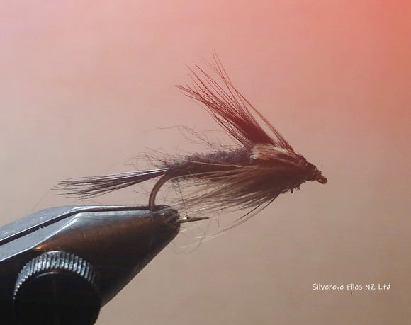 Black Gnat (3) -Fly Fishing Trout Flies Silvereye Flies