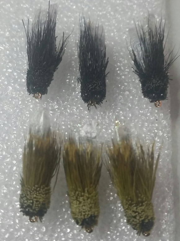 Cicada 6 Pack -Fly Fishing Trout Flies Silvereye Flies