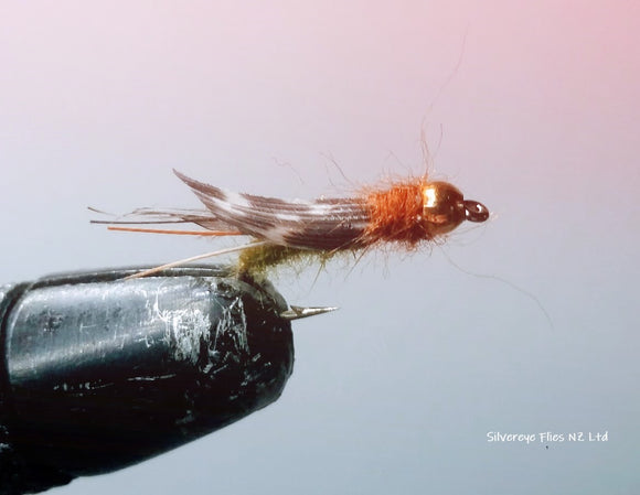 Gold Bead Caddis (3) -Fly Fishing Trout Flies Silvereye Flies