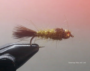 BH Hares Ear Olive (3) -Fly Fishing Trout Flies Silvereye Flies