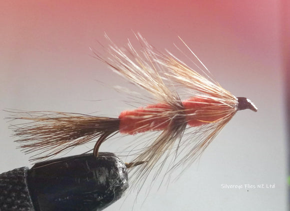 Red Setter Custom-tied Dozen -Fly Fishing Trout Flies Silvereye Flies