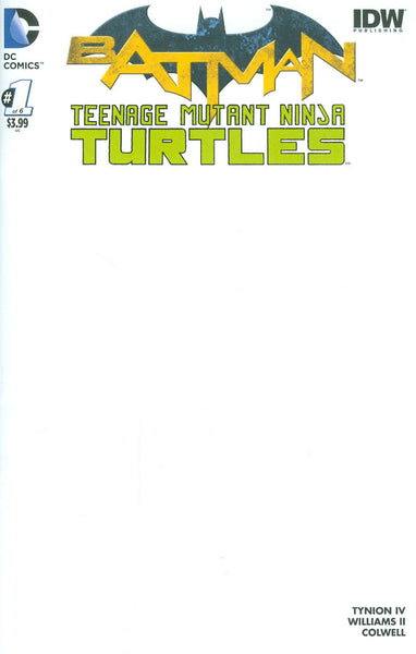 "Batman / Teenage Mutant Ninja Turtles (2016) #1 ""Blank"" Variant"