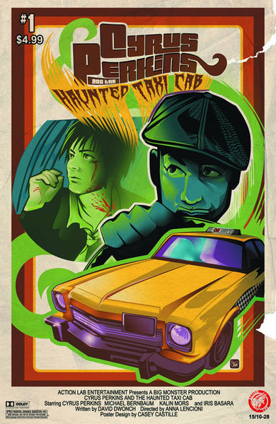 "Cyrus Perkins and the Haunted Taxi Cab (2015) #1 ""Movie Poster"" Variant"