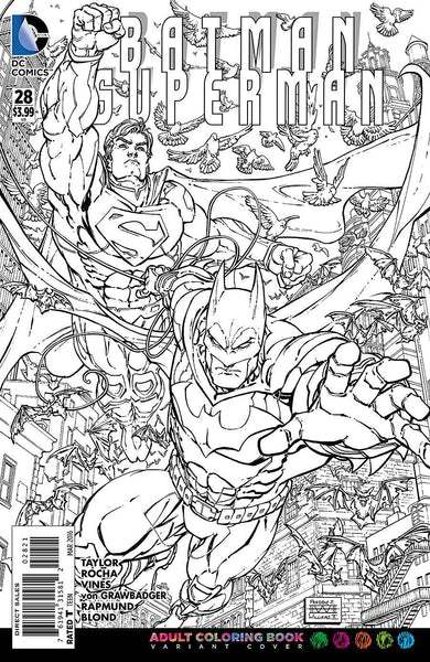 "Batman / Superman (2013) #28 ""Adult Coloring Book"" Variant"