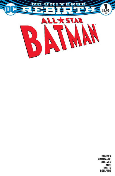 "All Star Batman (2016) #1 ""Blank"" Variant"