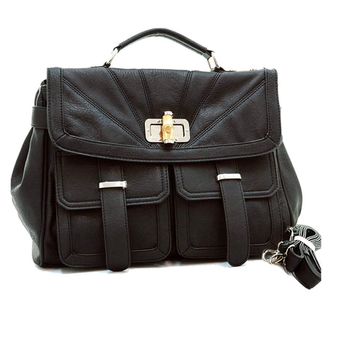 Messenger Travel Bags-Eva-Msger-M-BLK