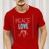 Peace Love Joy (Red)