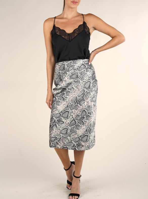 Lovestitch - Snake Print Skirt