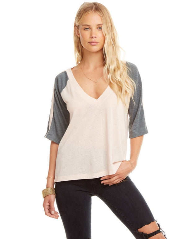 Chaser - Blocked Jersey V-Neck