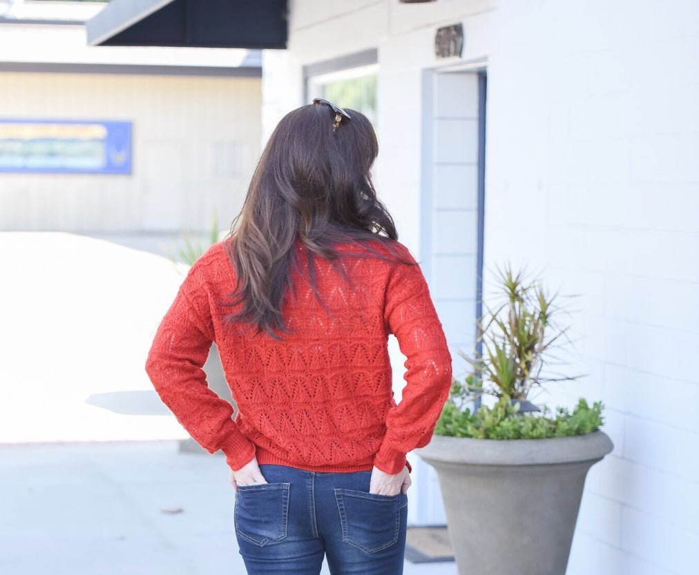 Willow & Clay - Pointelle Sweater