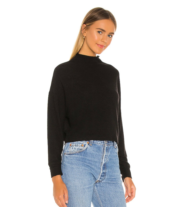 Chaser - Cropped Funnel Neck Sweatshirt