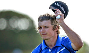 Eddie Pepperell hit eight birdies on his way to a share of the lead at the Nordea Masters
