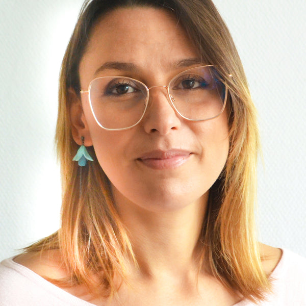 Fuxia Dungling Earrings with Glasses - Varily Jewelry