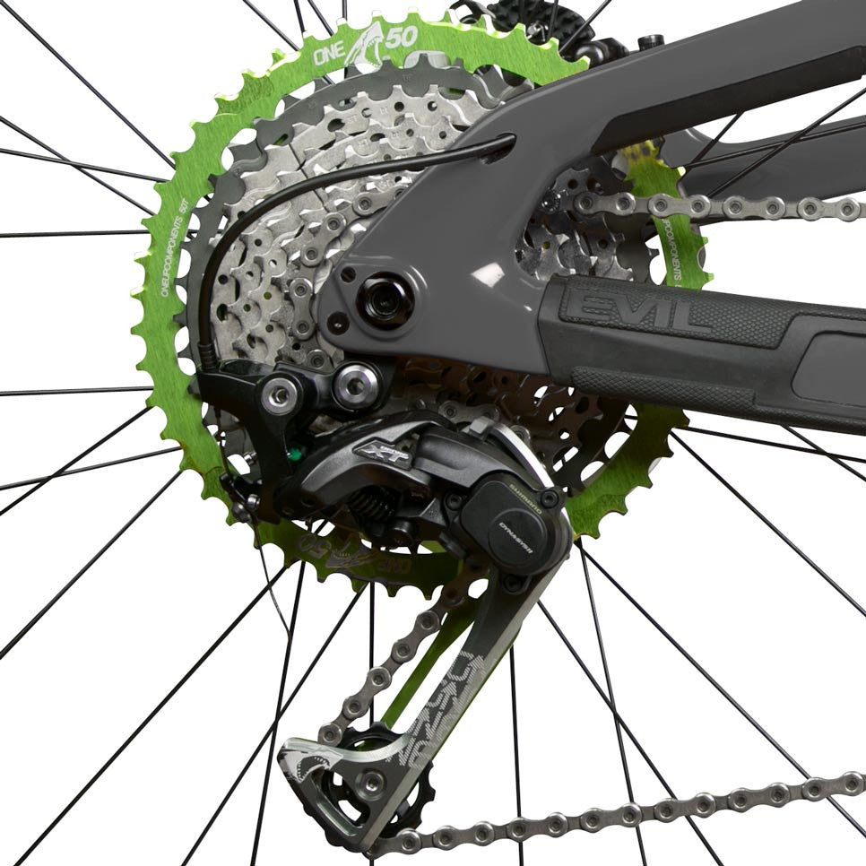 50t 18t Shark Sprocket And Cage 1x11 Oneup Components Mini Group Set 11speed Slx 46t Green Front Assembled