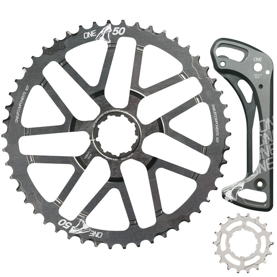 50t 18t Shark Sprocket And Cage 1x11 Oneup Components Mini Group Set 11speed Slx 46t Kit Grey Front