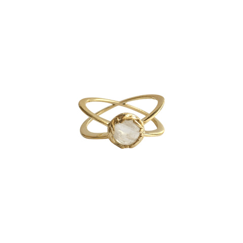 Sophie rainbow moonstone ring