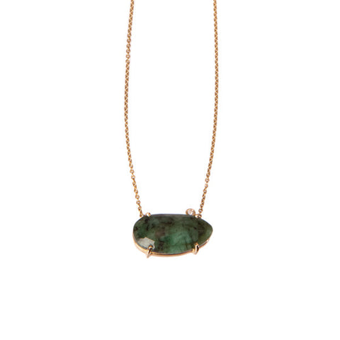 Necklace - Alanis Emerald Pendant