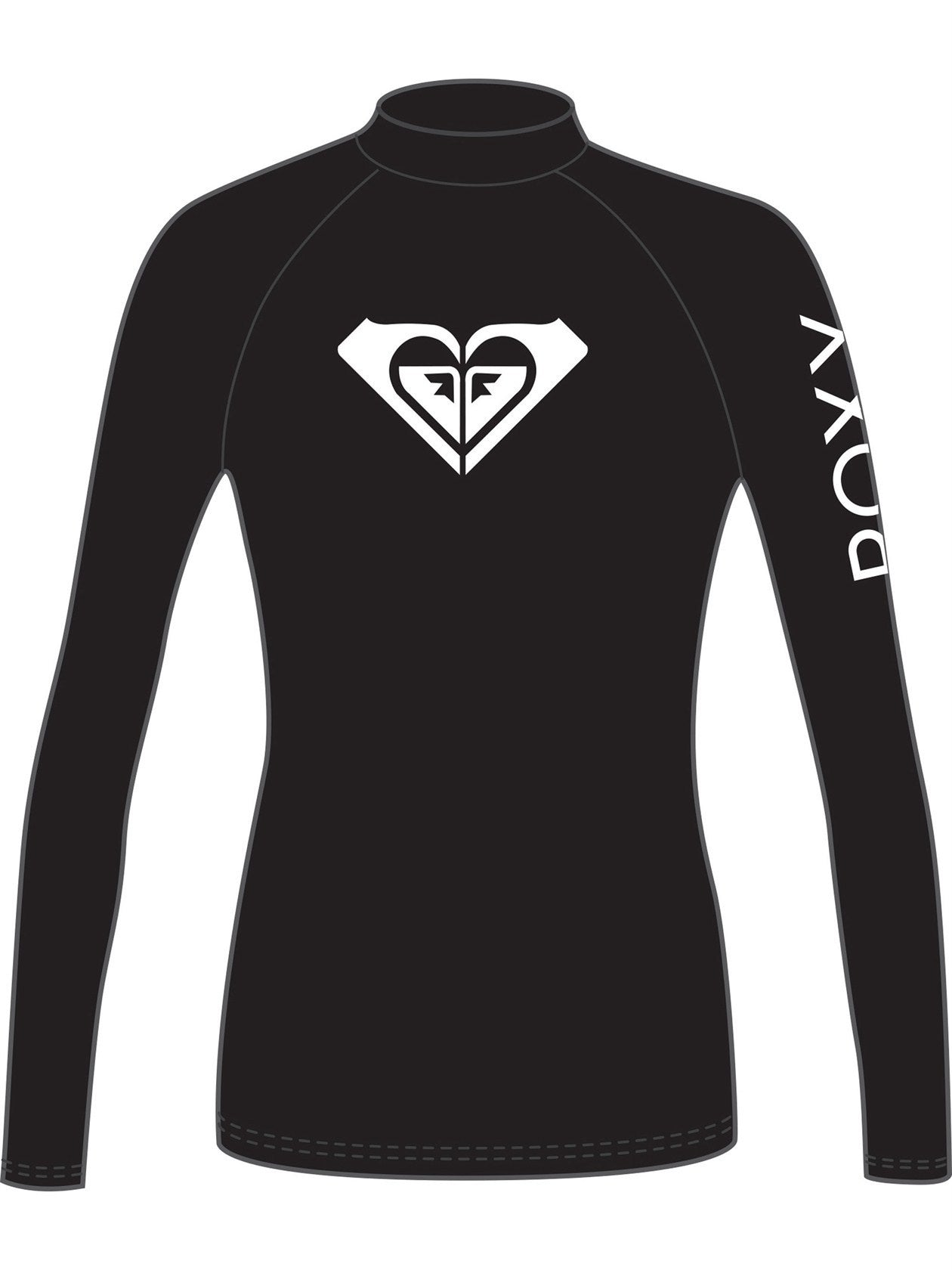 Roxy LS Ladies Heater Rash Guard