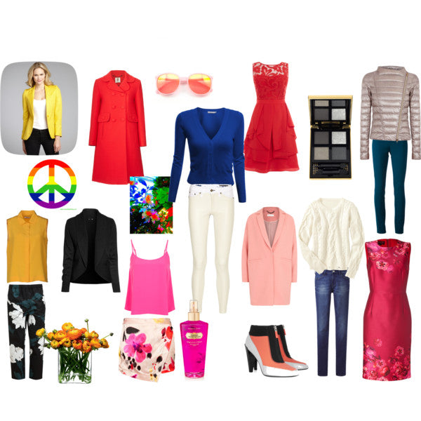 bright spring colour outfits
