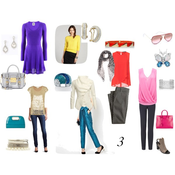 Mostly bright spring colour outfits