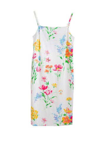 D013 Daisies Sheath Dress
