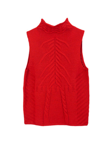 T012B 90s Cable Knit Tank