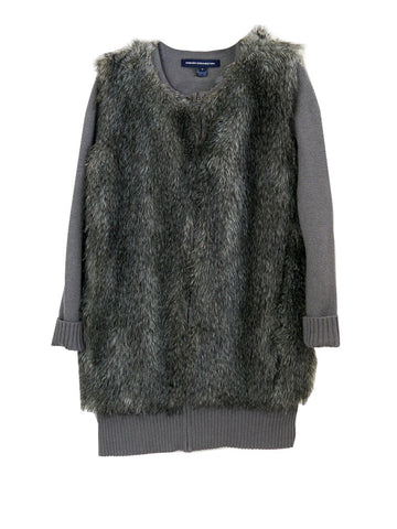 J024 FRENCH CONNECTION Fur Knit Jacket