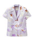 J027 RARE VINTAGE VERTIGO Watercolor Short-Sleeve Blazer