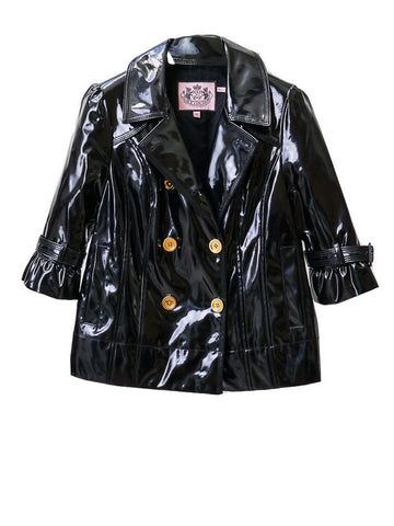 J029 JUICY COUTURE Patent Trench Jacket