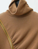T014 90s Diagonal Zipper Turtleneck