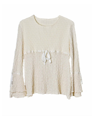 T019 90s VINTAGE KAWAII BoPeep Knit Top