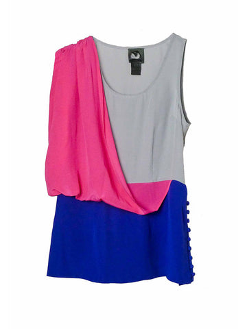 SB025 Early 00s Colorblock Top