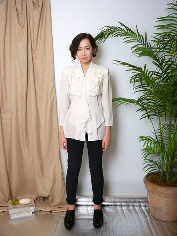SB021 90s Ribbonwork Blouse