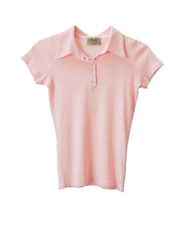 T015 JUICY COUTURE Pink Polo Tee