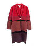 J015 90s ALFANI Japanese Colorblock Ombré Coat