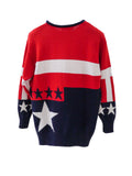 SC001 80s MOLTO FINO Analog American Flag Sweater