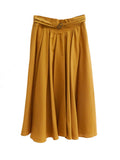 SK006 70s Mustard Pleated Skirt