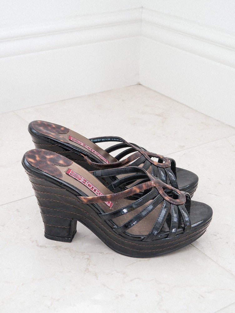 SH002 90s VINTAGE HOT KISS Platform Shoes - 6.5