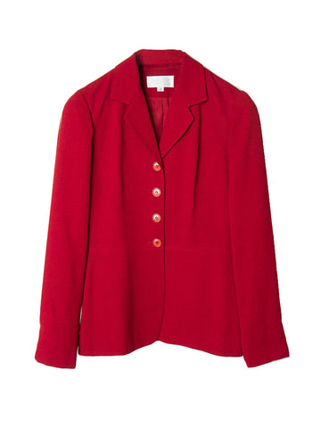 J046 90s PARISIAN RED BLAZER JACKET
