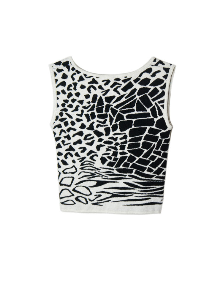T041 80s CATTY RESORT KNIT TANK
