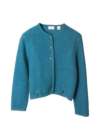 SC025 80s Textured Wool Structured Bomber