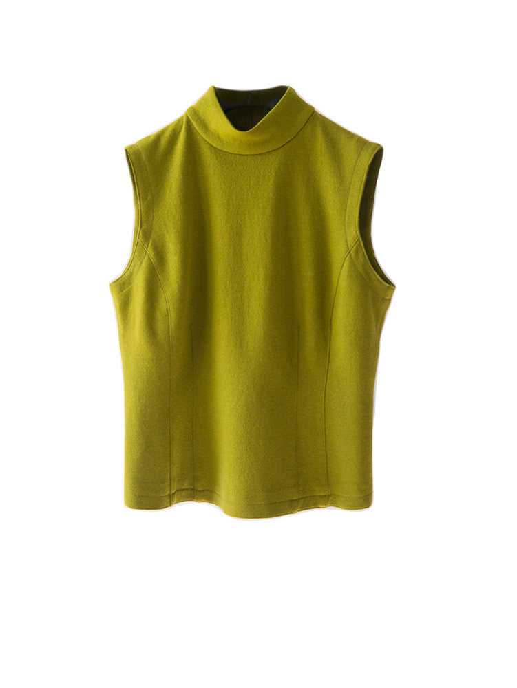 T049 90s Ann Taylor Structured Wool Tank