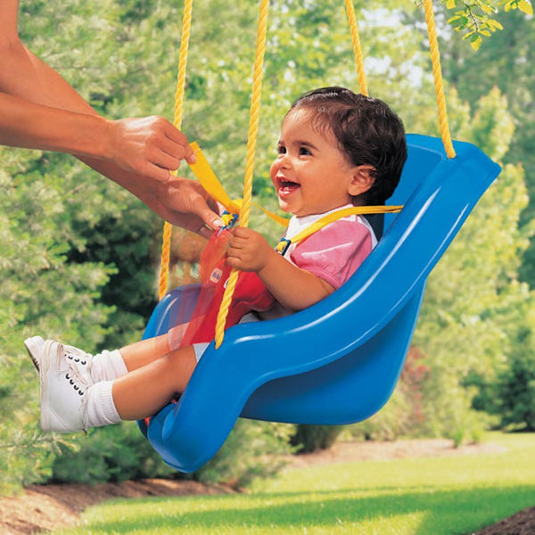 Little Tikes 2-in-1 Snug 'n Secure™ Swing - Columpio Bebé a Preescolar Azul