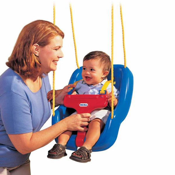 Little Tikes 2-in-1 Snug 'n Secure Swing - Columpio Bebé a Preescolar Azul